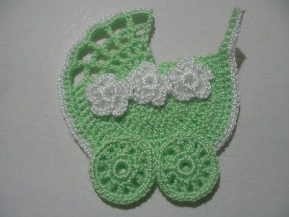 CROCHET APPLIQUE Stroller  OMG, THE PERFECT ADDITION TO ALL THINGS FOR THE BABY IN YOUR LIFE!