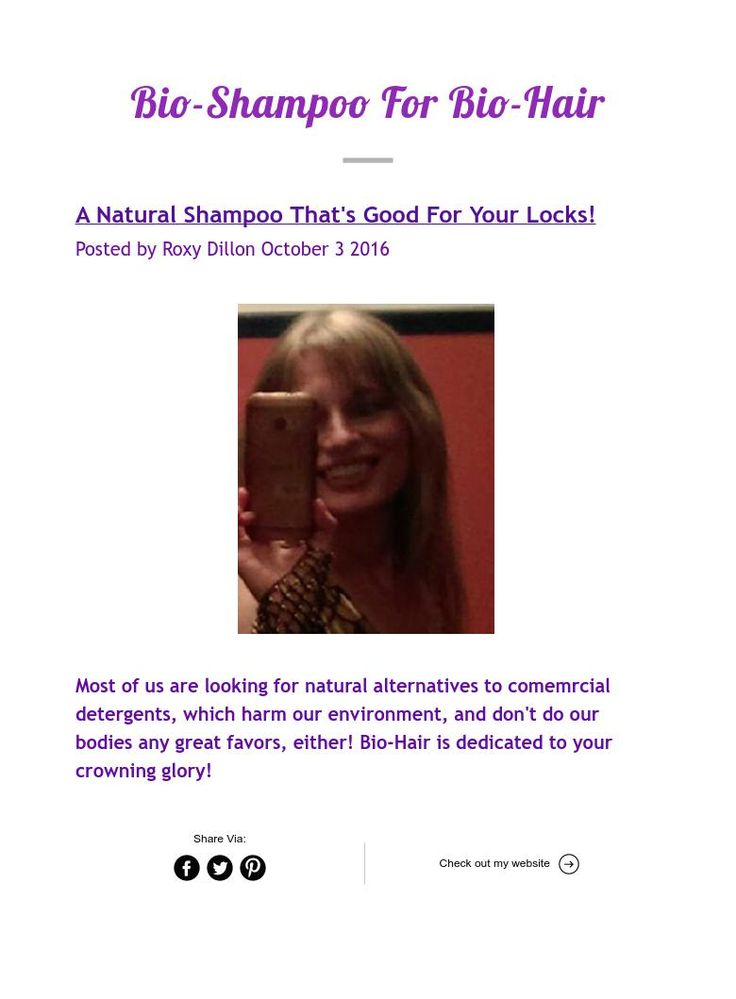 Bio-Shampoo For Bio-Hair