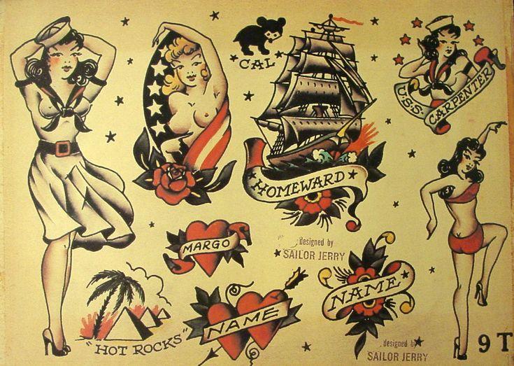 Sailor Jerry Tattoo Flash (10 Sheets): Butterflies, Devils ...