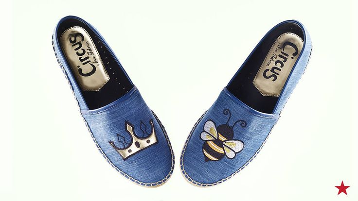 Only a true queen bee can pull off these killer denim flats from Circus by Sam Edelman. The not-so-hidden emoji message says it all!