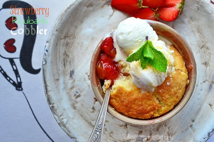 Strawberry Rhubarb Cobbler | cake! | Pinterest