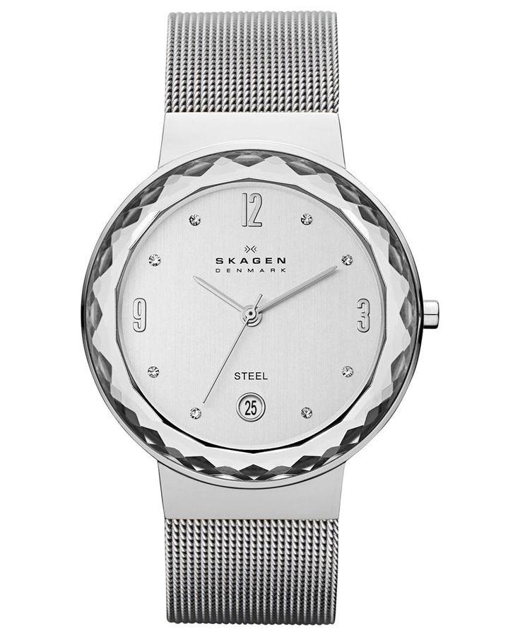 Skagen Watch, Women's Stainless Steel Mesh Bracelet 35mm SKW2004