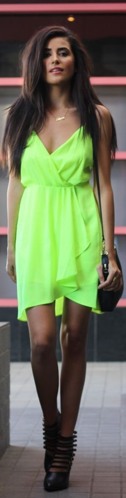 Little Neon Dress | Spazmag by SpazMag