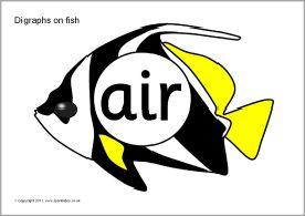 Digraph Sound Fish (SB32) - SparkleBox