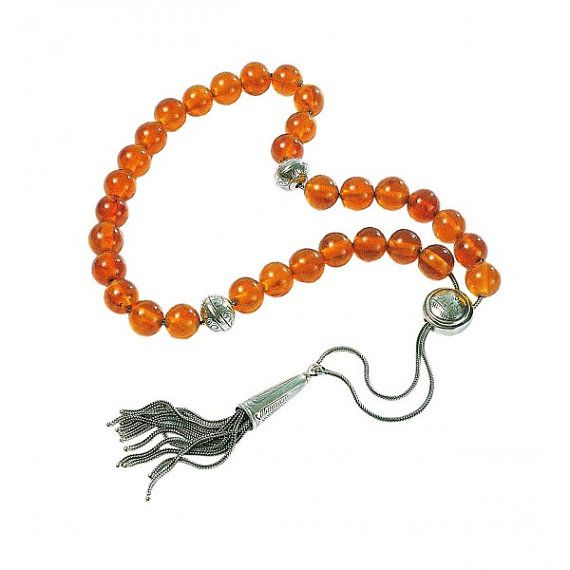 Worry beads with amber beads Hand made by LeFuCycliste on Etsy