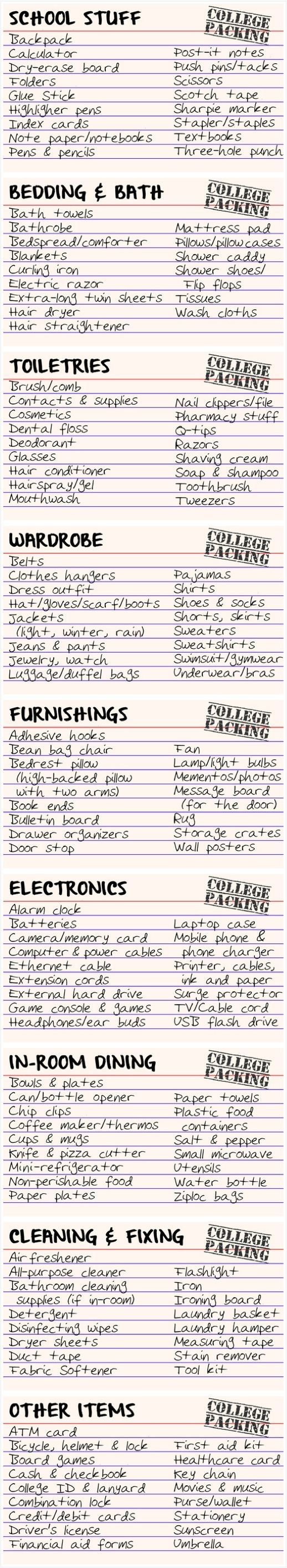 College packing index cards by flamingo mania