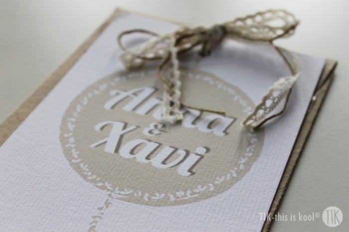 Anna & Xavi. #invitaciones #boda #personalizado #handmade