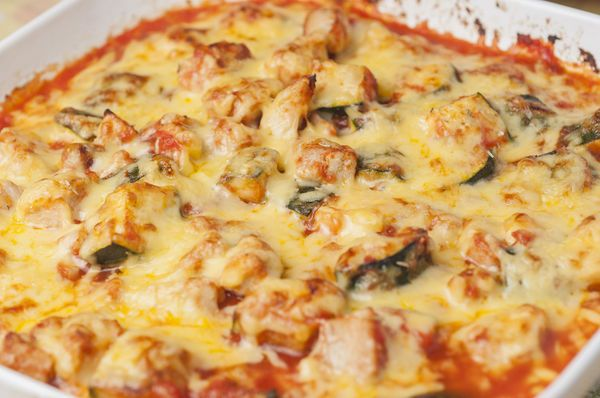 Protein And Veggie-Packed Cheesy Chicken Zucchini Casserole