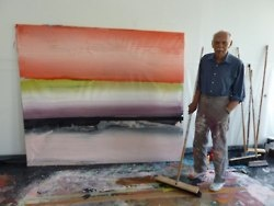 Ed Clark turns 85 years old this year. Born in Storyville, New Orleans, Clark used the WWII GI Bill to move to Paris in 1952. He was one of the few African American artists painting in Montmartre at that time. Clark works on large monumental canvases and developed his shaped canvas, which then influenced the contemporary movement of the 1950s and 1960s. The methods he uses consists of everything from a push-broom to his own bare hands, dipped in rich paint only to be smothered across the…