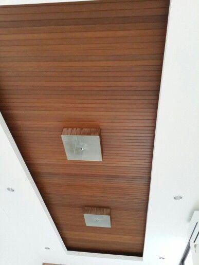 Wood ceiling in cibubur house by kusno utomo