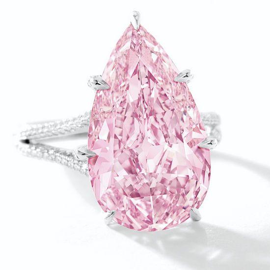 8.41 carat Vivid Purple Pink Diamond