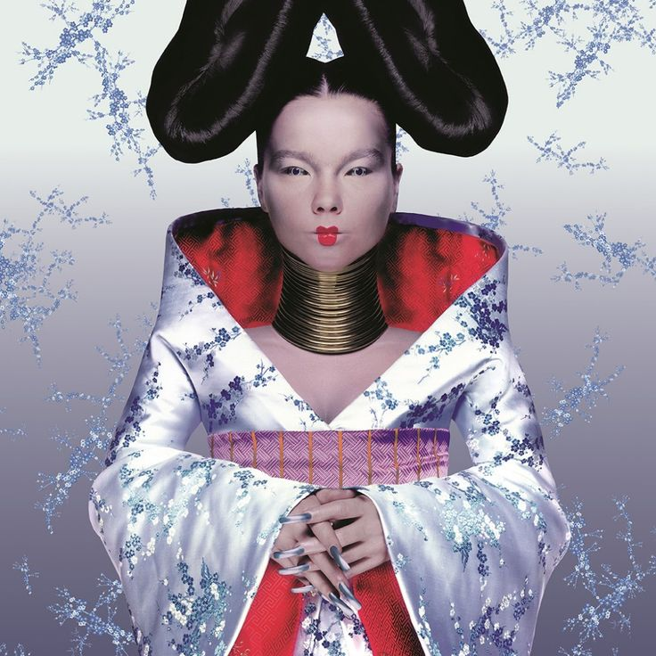 Björk, Homogenic album cover, 1997. Photography by Nick Knight, dress by Alexander McQueen