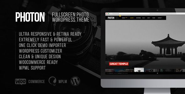 wpthemeclub: Photon | Fullscreen Photography Wordpress Theme