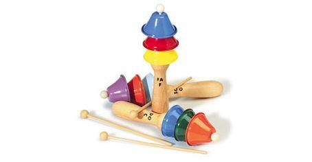 Campanelle colorate http://www.borgione.it/Educazione-musicale/Strumenti-musicali-dai-3-anni/Campanelle-colorate/ca_19753.html