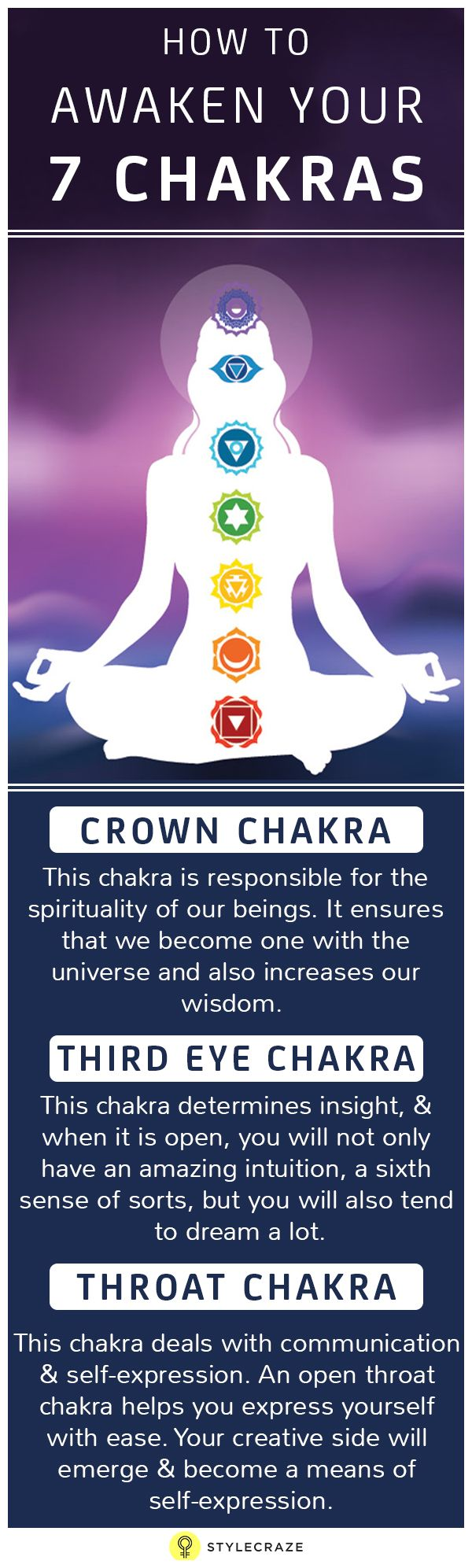 Hindu and Buddhist studies found pools of energy in our bodies that determine our cognitive qualities. There are seven basic chakras, four of which lie in our upper body that regulate our intellectual properties, and three of which supervise our instinctual properties in the lower body.