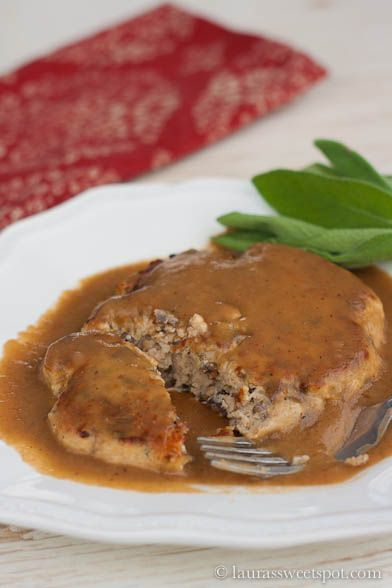 Turkey and Mushroom Meat Loaf Patties with Pan Gravy