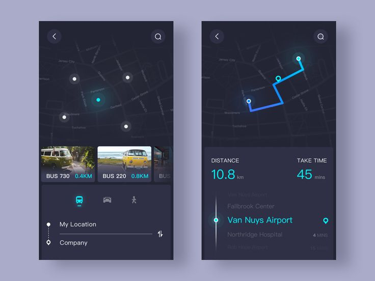 "Day011-Map  <p>Today I try to design a map app,People can use it to search bus station,And check the location by the app,So you won't miss any buses and stations .And the most inportant thing is thank you to <a href=""https://dribbble.com/813419"">@Gale P</a> ,Thank you for your adivice,My friend!</p>  <p>If you like this shot,Please press ""L""</p> via dribbble   https://dribbble.com/ui_star"