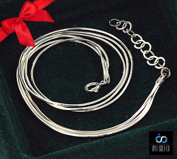 bransoletka na nogę POTRÓJNA 28cm srebro 925 www.one-silver.pl