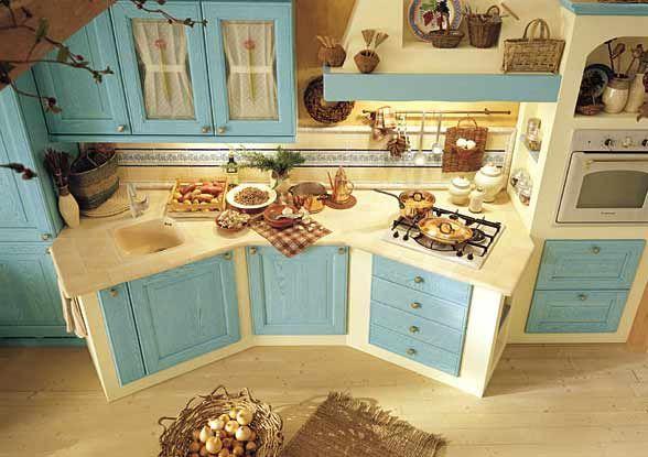 cucine in muratura moderne colorate - Cerca con Google