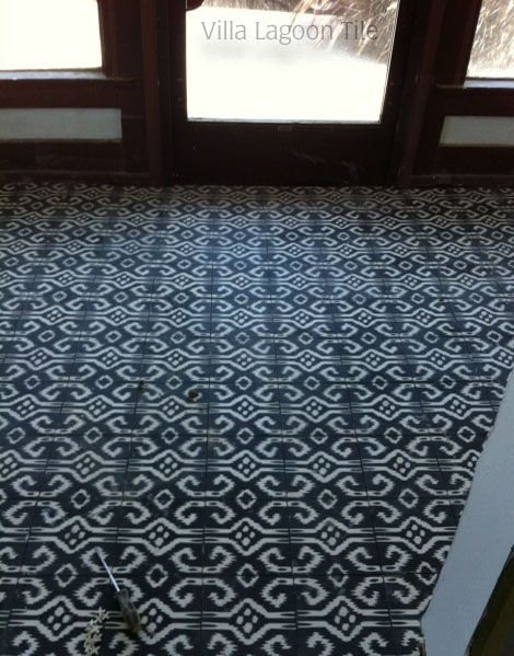 Cement Ikat Pattern Floor and Wall Tiles