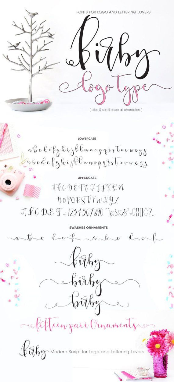 Birby Calligraphy Font Download Digital Fonts With Images