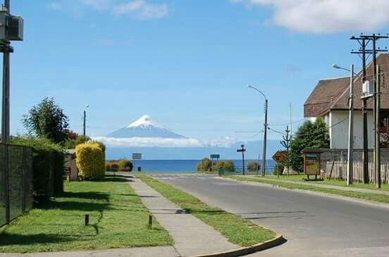Chile. Frutillar. Volcan Osorno