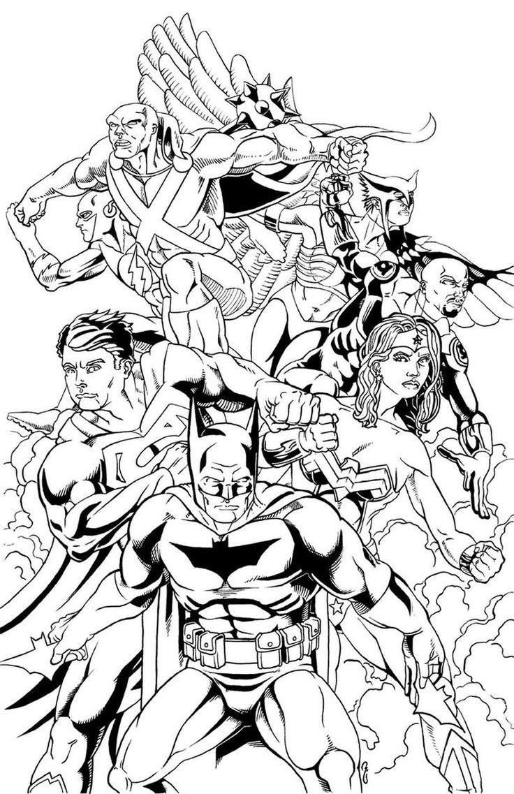Printable Justice League Coloring Pages in 2020 Színező