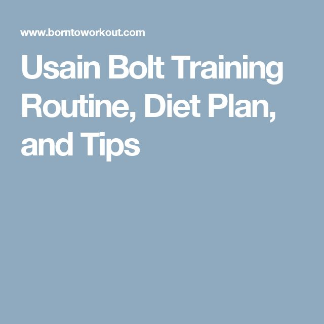 Usain Bolt Training Routine, Diet Plan, and Tips