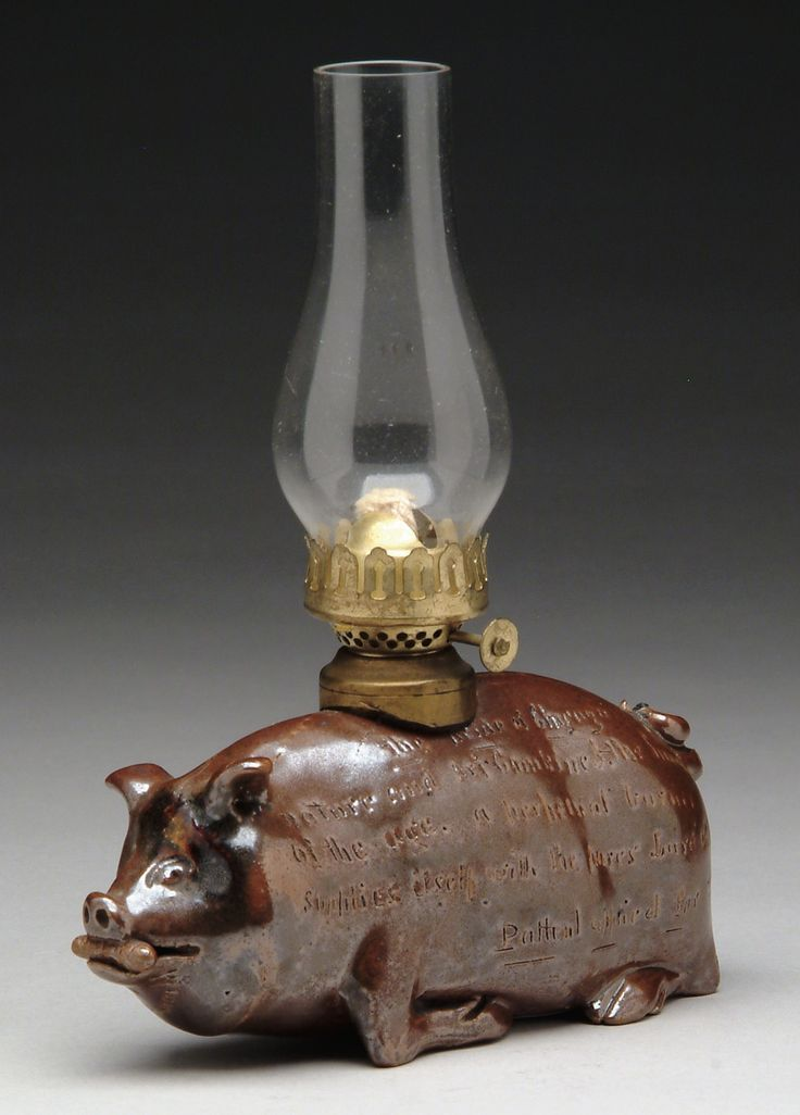 Antique Pig Oil Lamp Just 4 Piggy Lovers Pinterest