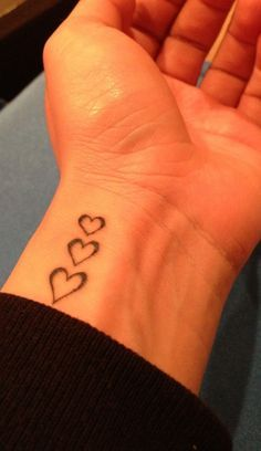 Heart Tattoo on Wrist for each child.