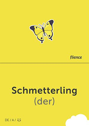Schmetterling #CardFly #flience #animals #german #education #flashcard #language