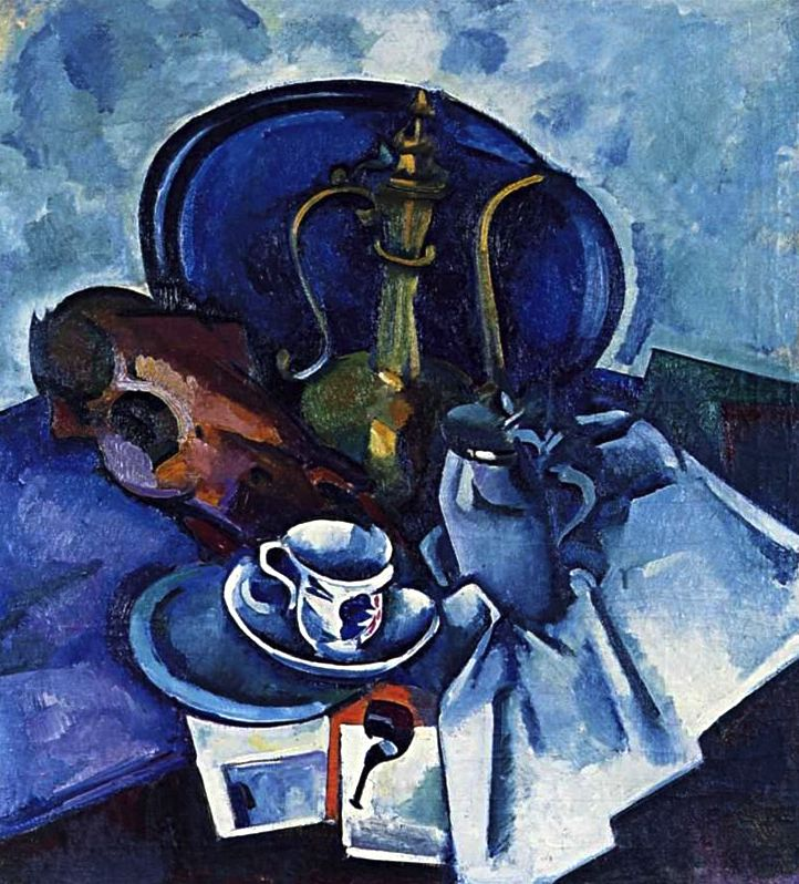 Still life with pipe, by Alexander Kuprin. (1917).
