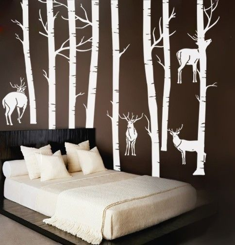 rustic bedroom his my hubby is a big hunter his ide of decorating is camo and deer heads on the wall i think this is a good middle ground