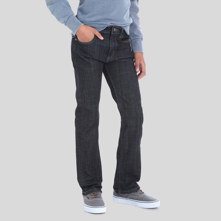 Wrangler Boys' 5pkt Slim Straight Jeans Dark Rinse 10 Slim, Black