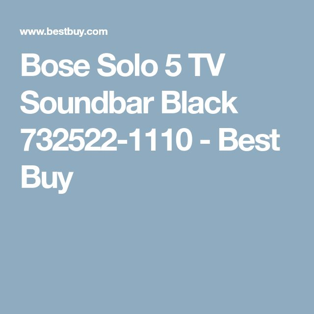 Bose Solo 5 TV Soundbar Black 732522-1110 - Best Buy