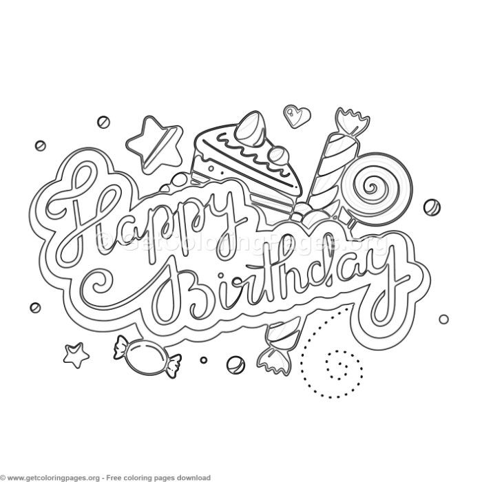 9 Happy Birthday Coloring Pages Getcoloringpages Org Coloring