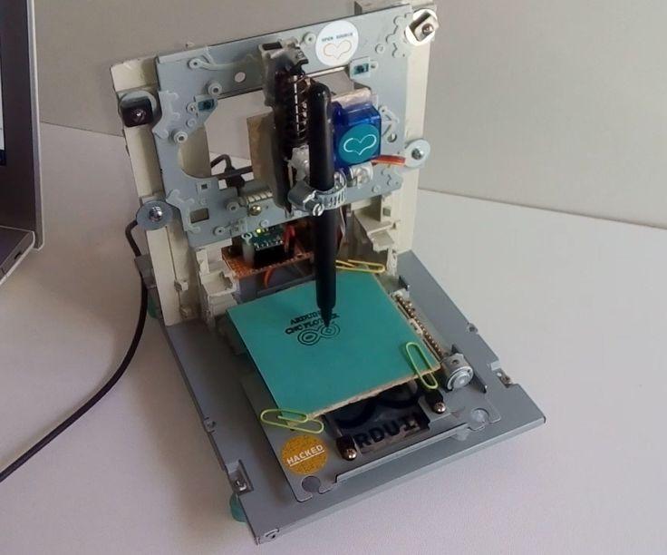 Mini cnc plotter arduino based