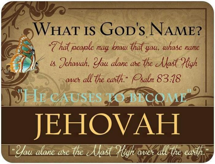 WHAT IS GOD'S NAME? JEHOVAH. Praise Jehovah! Everyone will have had the chance to accept or reject the word of God; of Jehovah. Choice. I accept. Will you? For everlasting life?