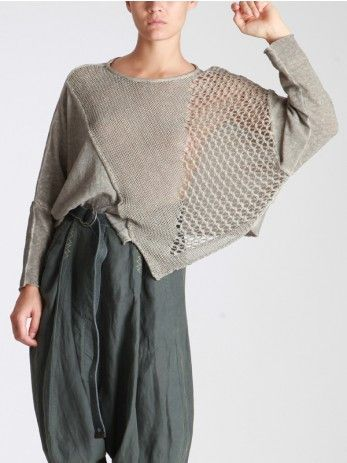 COTTON SWEATER WITH UNEVEN DYE - JACKETS, JUMPSUITS, DRESSES, TROUSERS, SKIRTS, JERSEY, KNITWEAR, ACCESORIES - Woman -