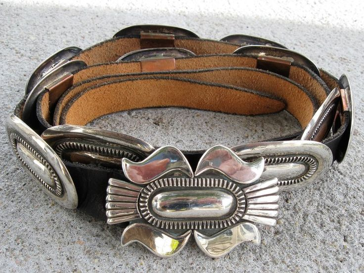 Native American Sterling Concho Belt by Cippy Crazy Horse Navajo