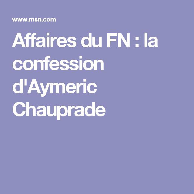 Affaires du FN : la confession d'Aymeric Chauprade