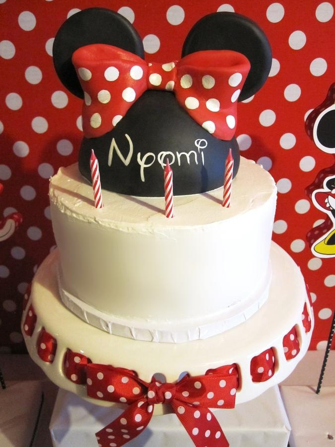 Simple Cake Nyomi S Minnie Mouse 3rd Birthday Party