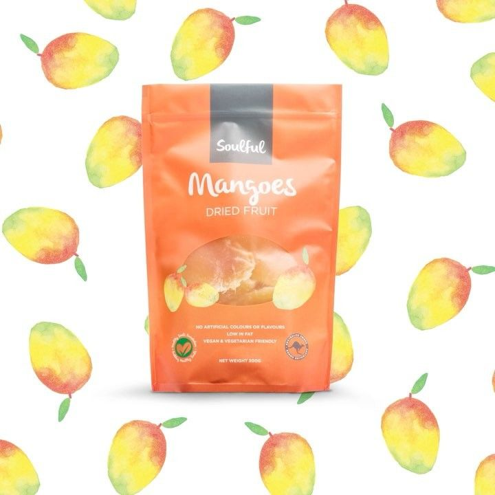 Bite into the taste of summer everyday with Soulful's dried mango pieces! A tropical sensation, delicious in all your baking, breakfast and salad recipes #soulfuldriedfruit #mango