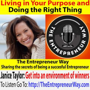 To find out more click this link =>> http://theentrepreneurway.com/podcast/359-living-in-your-purpose-and-doing-the-right-thing-with-janice-taylor-founder-and-owner-of-mazu-family/  CEO & Founder of Mazu, Janice is a tech entrepreneur & inspirational speaker. Her credo of kindness, acceptance and a compassion for fellow beings drives the vision of her entrepreneurial enterprises. Her mission at Mazu is to create the first family content and messaging platform that awaken families with love.