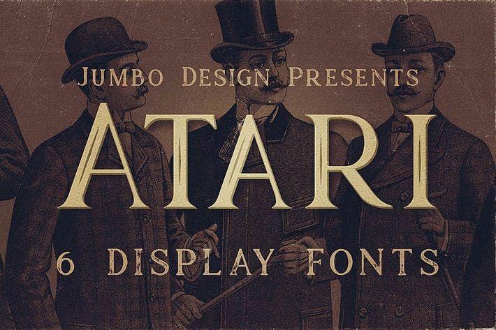 Atari - Vintage Style Font by cruzine | Graphics Novel | Vintage
