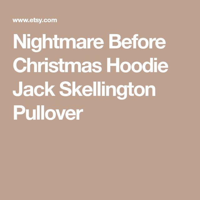 Nightmare Before Christmas Hoodie Jack Skellington Pullover