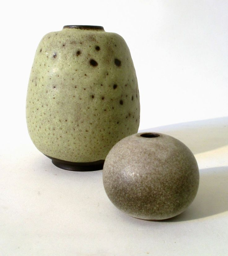 2x Keramik Vase Margarethenhöhe Essen german studio ceramic céramique annees 50