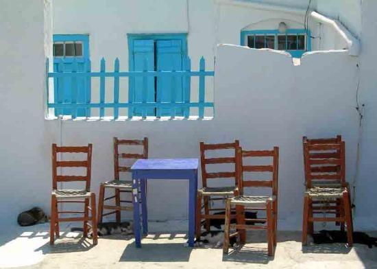 Katapola, Amorgos Greece: Siesta in Cat-apola