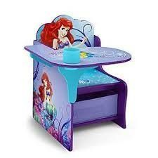 Disney Little Mermaid Chair Desk with Storage Bin