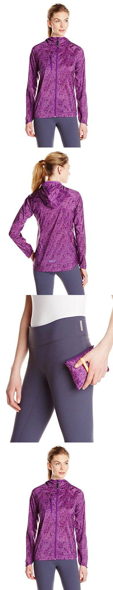 ASICS Women's Fujitrail Packable Jacket, Purple Magic Print, Medium